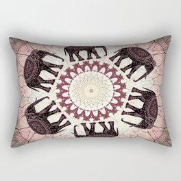 Boho Elephants Rectangular Pillow