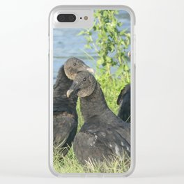 Black Vultures Clear iPhone Case