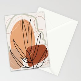Boho Plant abstract Stationery Cards
