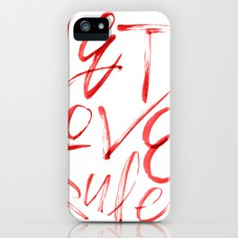 Let Love Rule iPhone Case