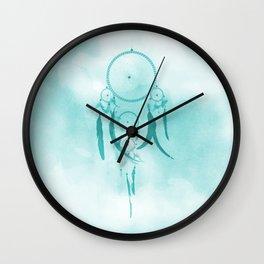 Aqua DreamCatcher Wall Clock