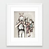 family Framed Art Prints featuring Family by RiversAreDeep