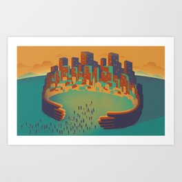 Inclusive City Art Print