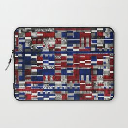 Simultaneous Love and Loathing (P/D3 Glitch Collage Studies) Laptop Sleeve