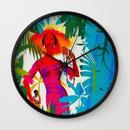 Vintage Caribbean Travel - Jamaica Wall Clock