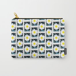 SMILE Pattern - White Daisy Flower #1 Carry-All Pouch