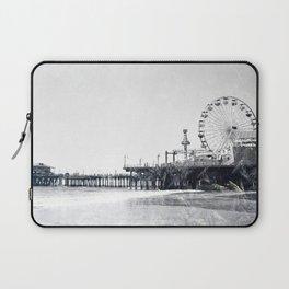 Frosted Santa Monica Pier Laptop Sleeve