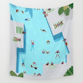 Crisp cut swim Wall Tapestry