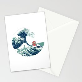 Ponyo and the great wave Stationery Cards