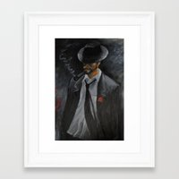 men Framed Art Prints featuring Men by Anja Kidrič AdAk