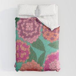 Beautifal Dahlia Garden Comforters