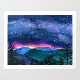 Good Night Smoky Mountains Art Print