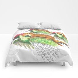 Weasel Riding Woodpecker Gang Comforters