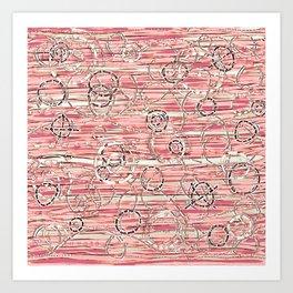 Loopy in Pink Art Print