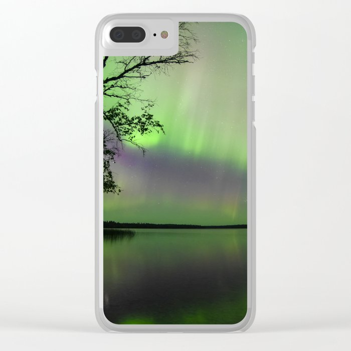 Lights on the water Clear iPhone Case