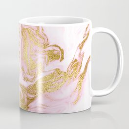 Rose Gold Mermaid Marble Coffee Mug