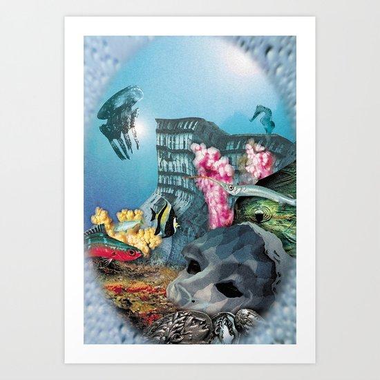 Deep sea II Art Print