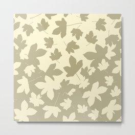 Envelope leaves decor. opposite.oive-green. off-white. Metal Print