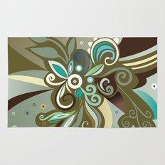 Floral curves of Joy, olive Rug