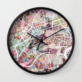 Vatican map Wall Clock