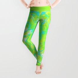 Grunge Art Floral Abstract G170 Leggings