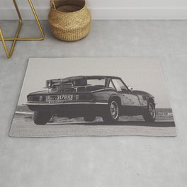Supercar details, british triumph spitfire, black & white, high quality fine art print, classic car Rug