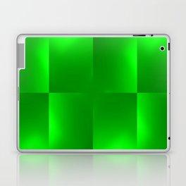 Shiny gradient Checks, green Laptop & iPad Skin