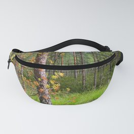 Fluttering from the autumn tree Fanny Pack