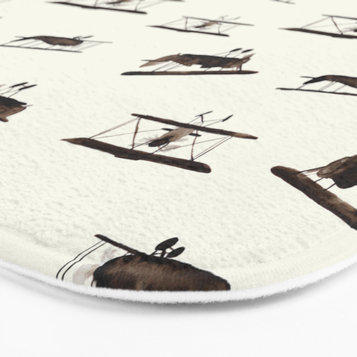 Retro airplanes Bath Mat