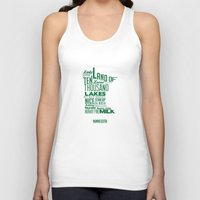 minnesota Tank Tops featuring Minnesota by Kelly Jane