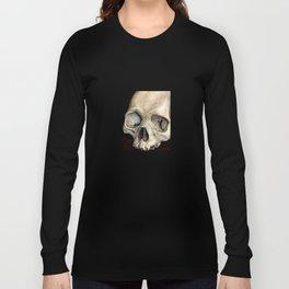 moldy tan skull Long Sleeve T-shirt