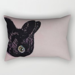 Black Bunny Rectangular Pillow