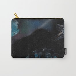 Planets with Space Station - Spray Paint Art Carry-All Pouch