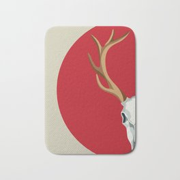 Chamanic red deer skull - best profile Bath Mat
