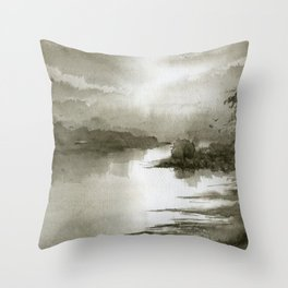 A Splash of Sepia Throw Pillow