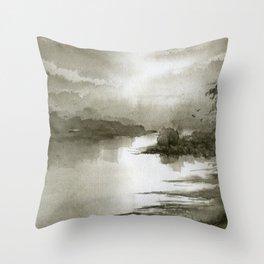 A Splash of Sepia Throw Pillow