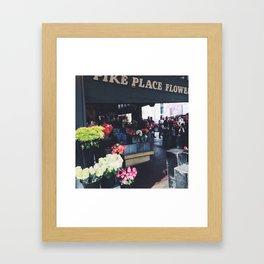 Pike Place Flower Market, Seattle Framed Art Print