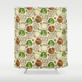 Citric Fruits vPeach Shower Curtain