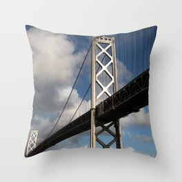 Bay Bridge in the Sun Throw Pillow
