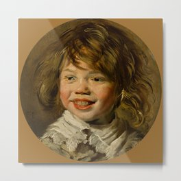 "Frans Hals ""Laughing boy"" Metal Print"
