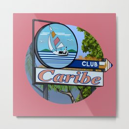 Club Caribe Metal Print