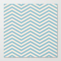 chevron Canvas Prints featuring Chevron by Patterns and Textures