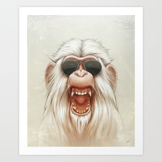 The Great White Angry Monkey Art Print