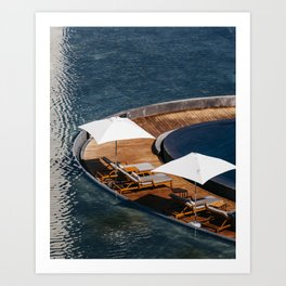 Embraced by the Blue Sea - Mexico Wanderlust Art Print