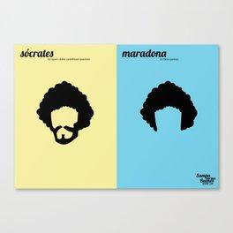Sócrates x Maradona Canvas Print