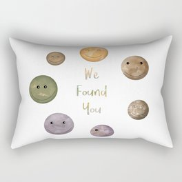 Lucky to Find You Around the Universe Rectangular Pillow