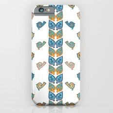 Leaves & Birds Pattern iPhone 6s Slim Case