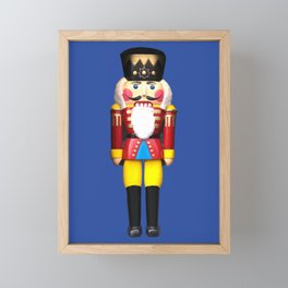 Nutcracker Merry Christmas - blue Framed Mini Art Print