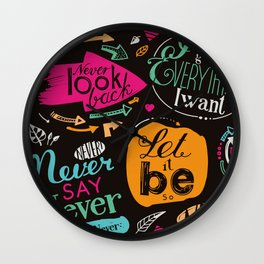 Never say never! Wall Clock