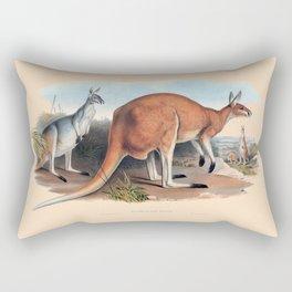 The Red Kangaroo Rectangular Pillow
